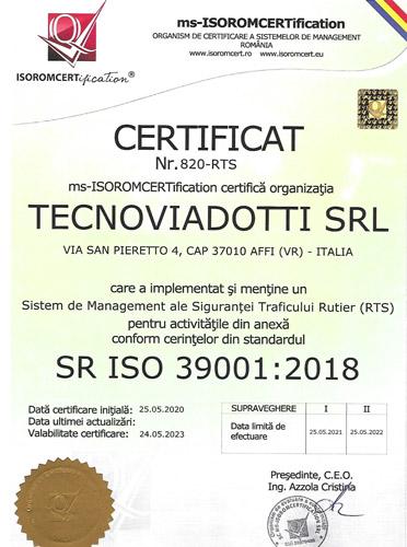SR EN ISO 39001:2018